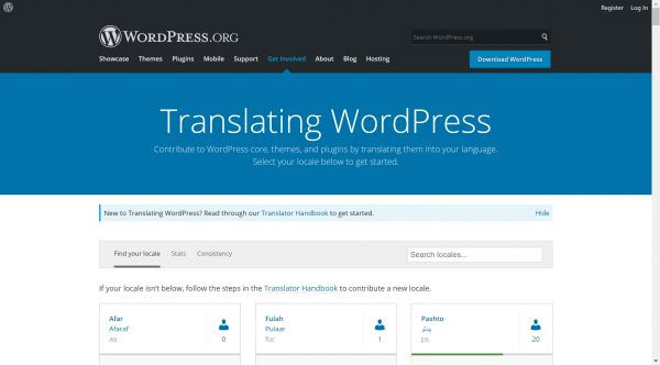 Translating WordPress website